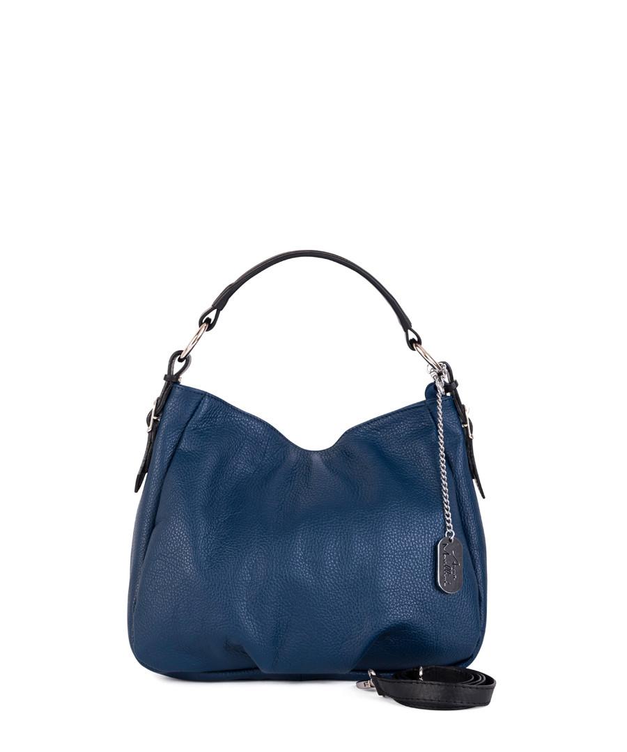 Navy leather shoulder bag Sale - anna morellini