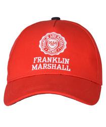 Boys' red cotton baseball cap
