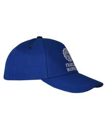 Boys' blue pure cotton baseball cap