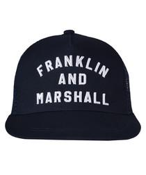 Boys' navy pure cotton baseball cap