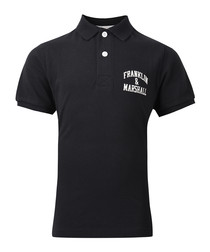 Boys'black pure cotton polo shirt