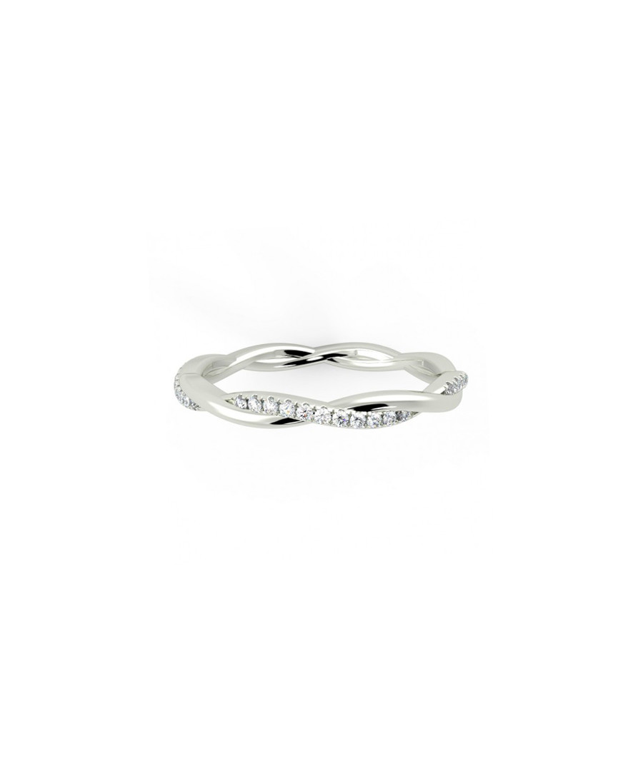 0.3ct diamond & white gold twist ring Sale - buy fine diamonds