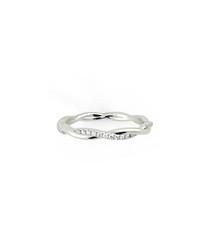 0.3ct diamond & white gold twist ring