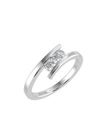 0.25ct diamond trilogy white gold ring