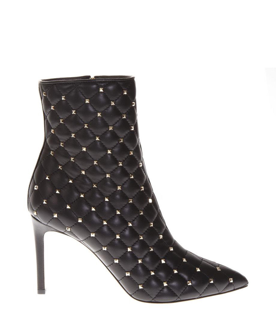 Black leather quilted heeled ankle boots Sale - valentino garavani