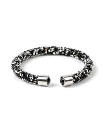 Silver-tone & black cuff