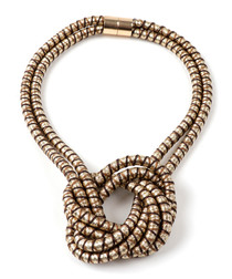 Gold-tone knotted necklace