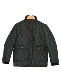 Boys' khaki quilted coat