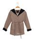Girls' beige hooded wrap coat Sale - Dewberry Sale