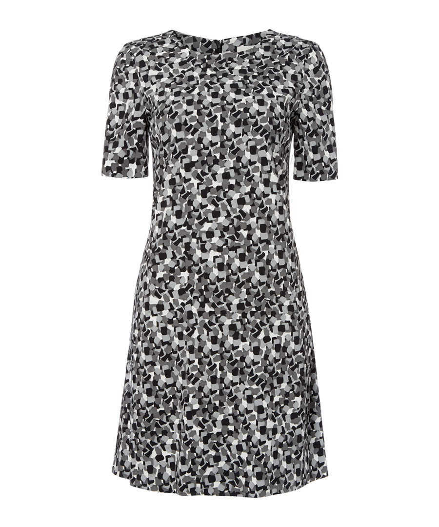 Dixie grey print A-line mini dress Sale - goat