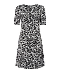 Dixie grey print A-line mini dress