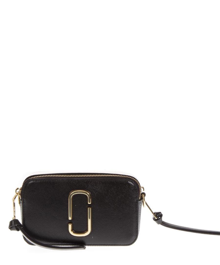 581292959d3b Snapshot black leather logo shoulder bag Sale - marc jacobs