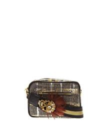 London brown & gold shoulder bag