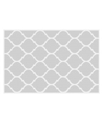 Quatrefoil grey print rug 66 x 100cm