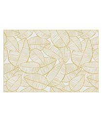 Kansas yellow print rug 66 x 100cm