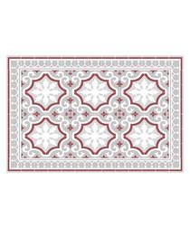 Corinna red print rug 66 x 100cm