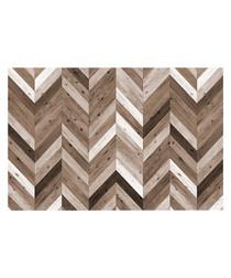 Calgary brown print rug 66 x 100cm