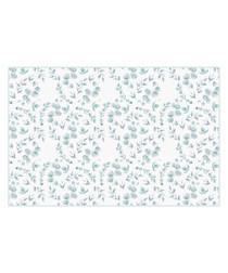 Spring blue print rug 66 x 100cm