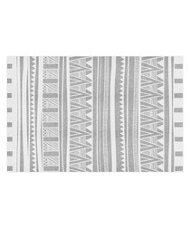 Zul white print rug 66 x 100cm