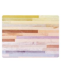 Multi-colour print rug 90 x 120cm