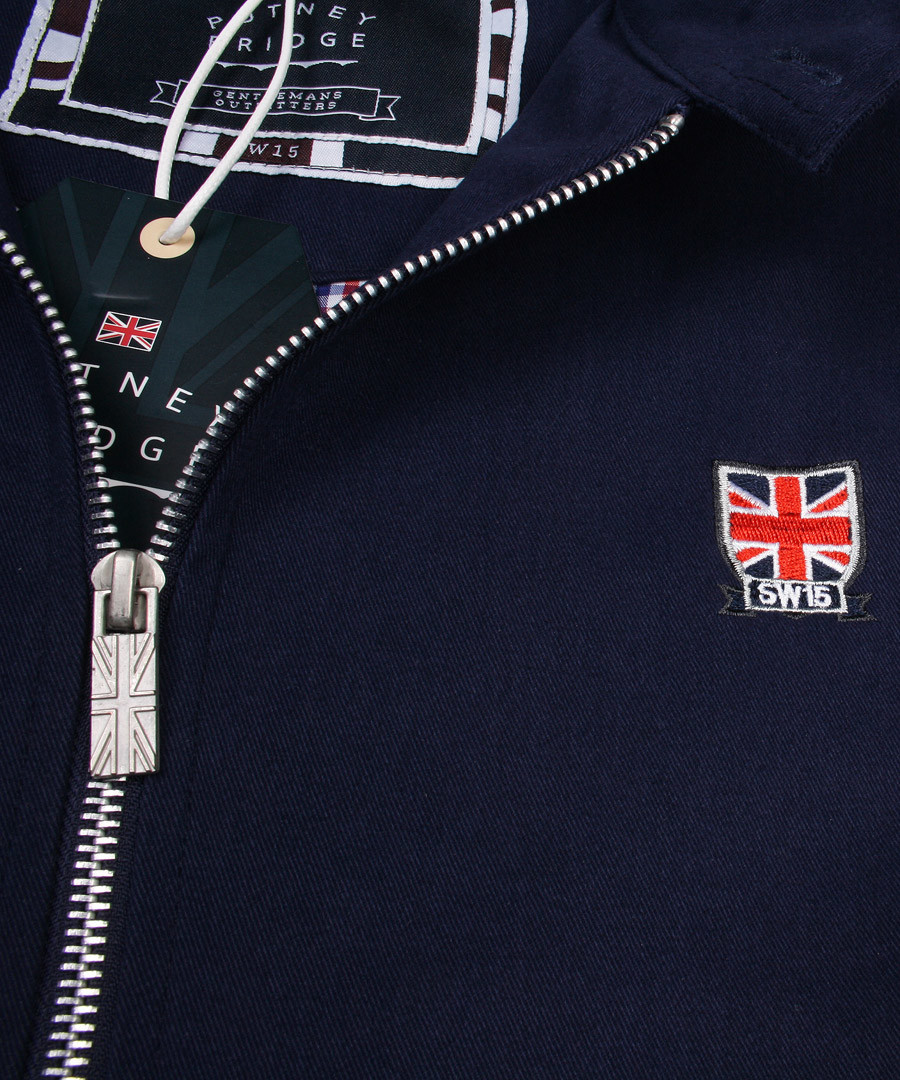 Navy Harrington jacket Sale - putney bridge