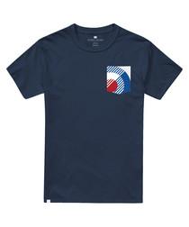 Navy pure cotton target T-shirt