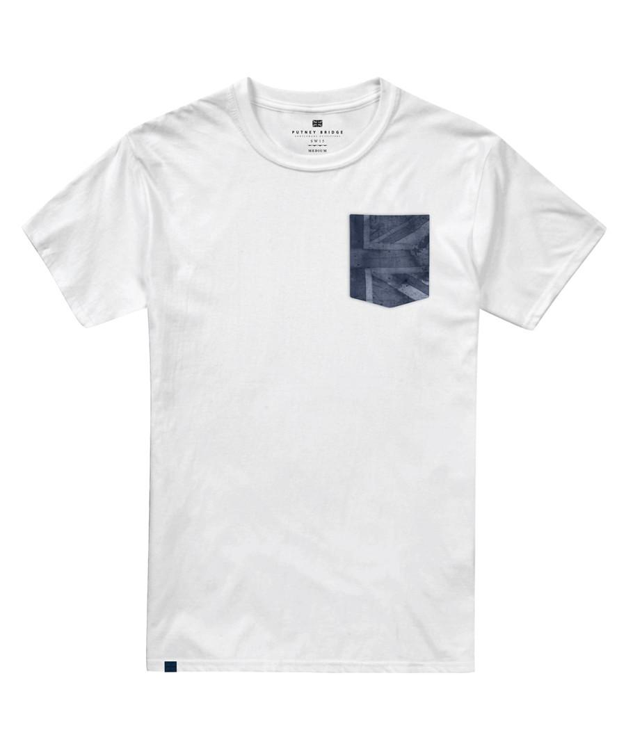 White pure cotton T-shirt Sale - putney bridge