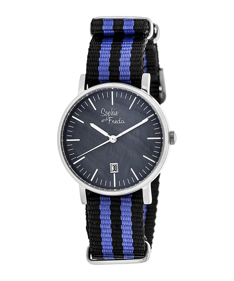 Nantucket blue & navy stripe watch Sale - sophie & freda