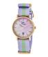 Nantucket purple & green stripe watch Sale - sophie & freda Sale
