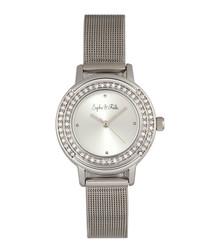 Cambridge silver-tone crystal watch