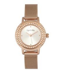 Cambridge rose gold-tone crystal watch