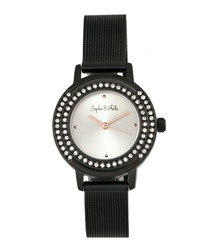 Cambridge black crystal watch
