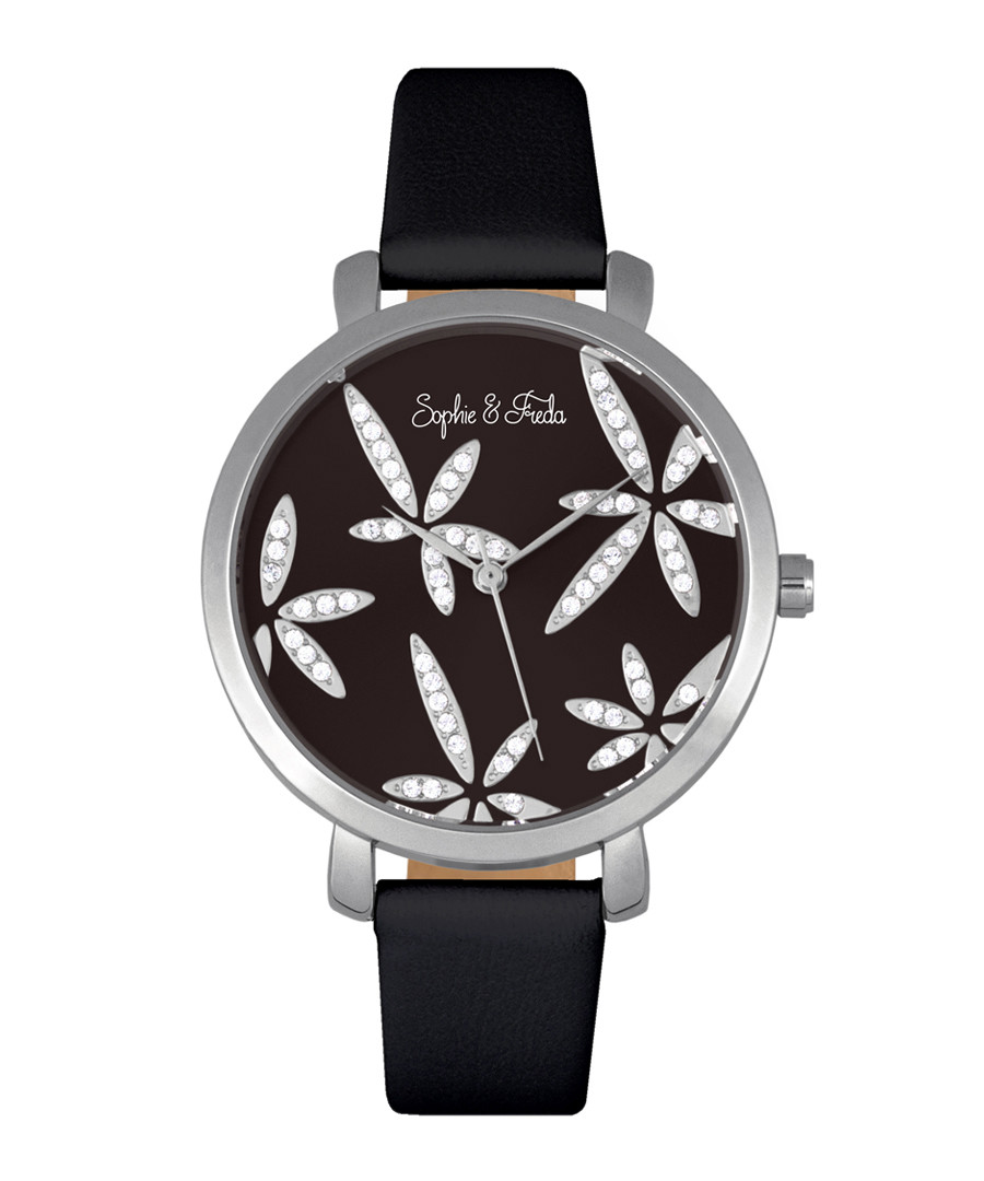 Key West silver-tone & black watch Sale - sophie & freda