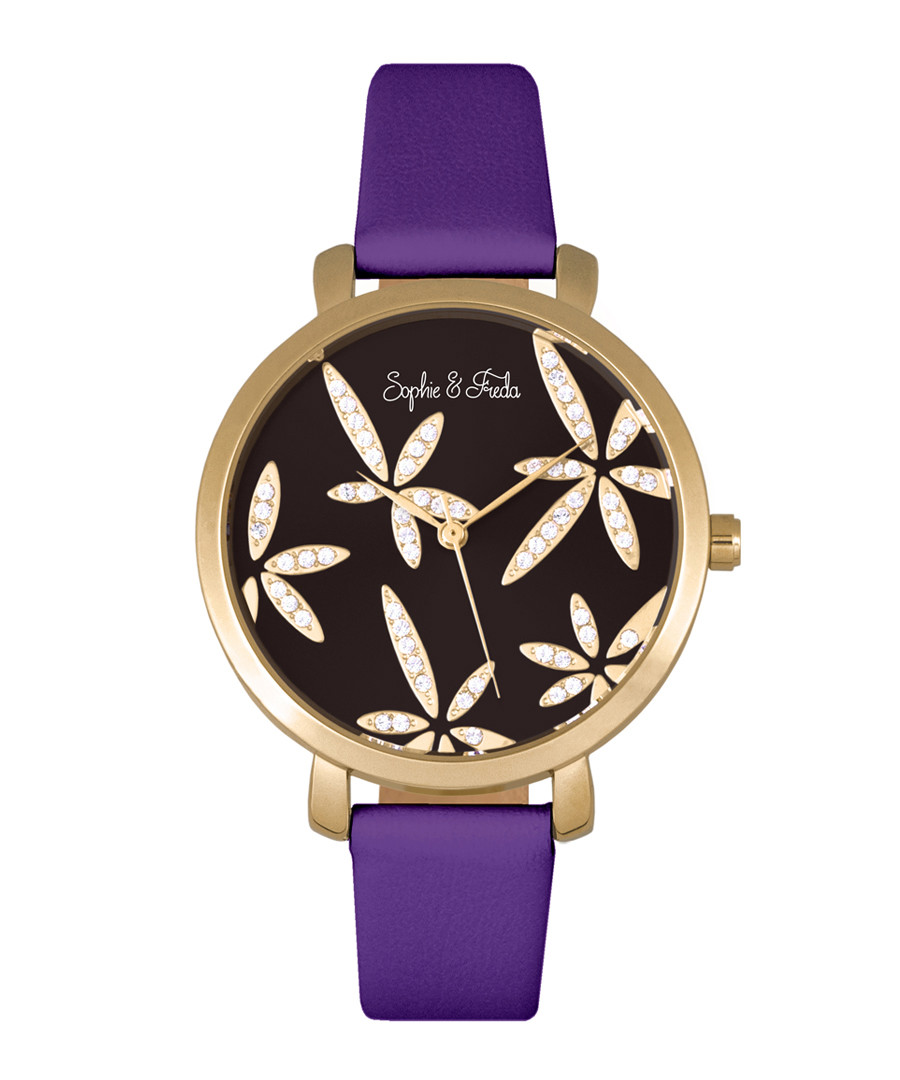 Key West gold-tone & purple watch Sale - sophie & freda
