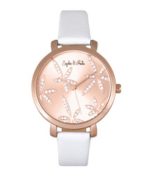 Key West rose gold-tone & white watch