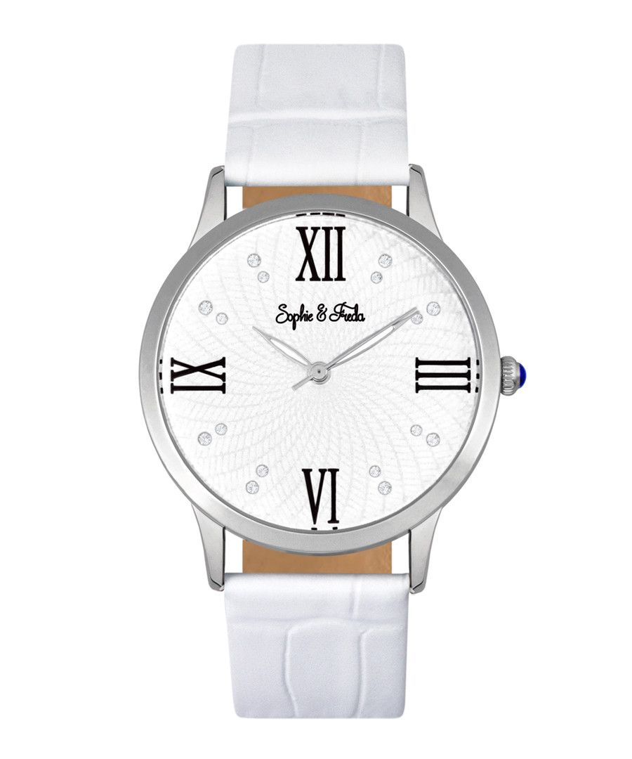 Sonoma silver-tone & white watch Sale - sophie & freda