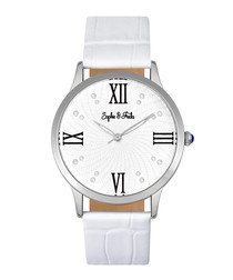 Sonoma silver-tone & white watch