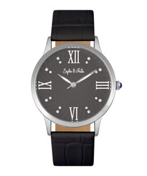 Sonoma silver-tone & black watch