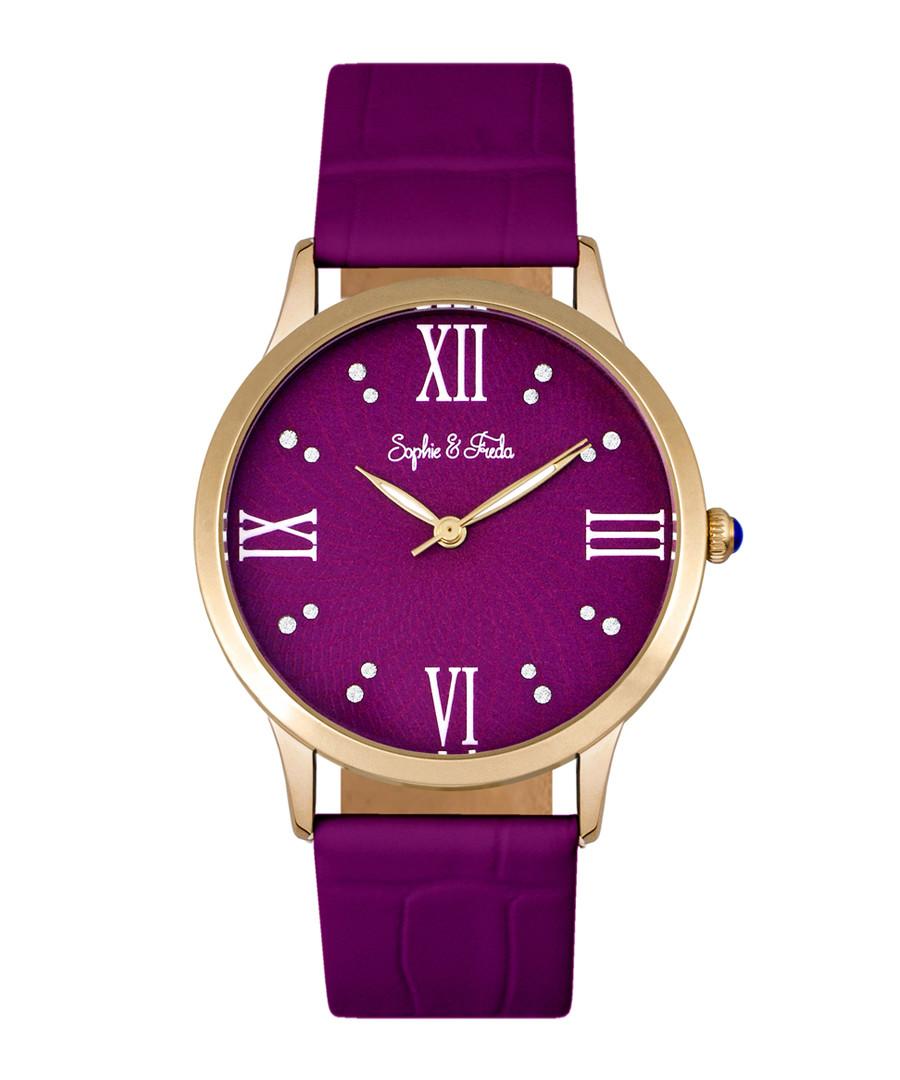 Sonoma gold-tone & fuchsia watch Sale - sophie & freda