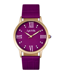Sonoma gold-tone & fuchsia watch