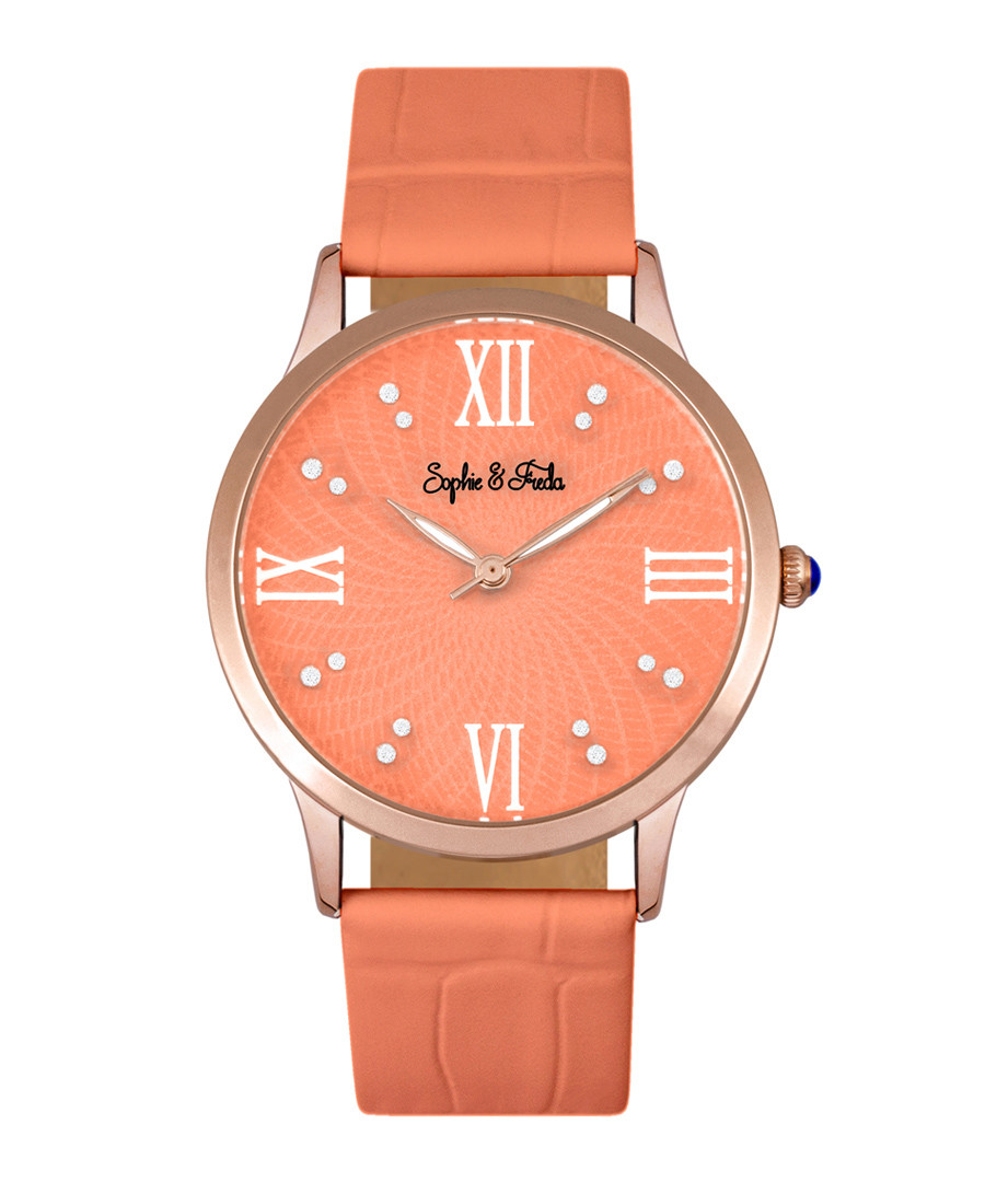 Sonoma rose gold-tone & coral watch Sale - sophie & freda
