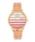 Tucson gold-tone & coral braid watch Sale - sophie & freda Sale