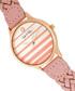 Tucson rose gold-tone & pink braid watch Sale - sophie & freda Sale