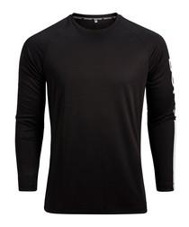 Aaron black long sleeve top