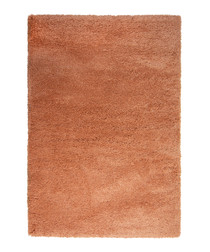Rose gold textured rug 160 x 230cm