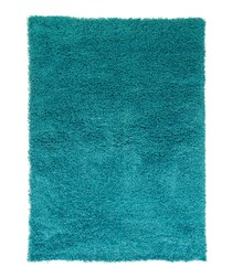 Turquoise textured rug 80 x 150cm