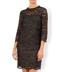 Caspia black lace mini dress