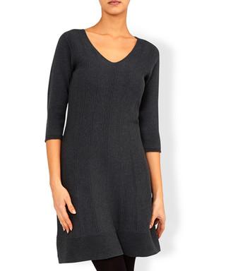 61a46b8c621d Charcoal pure cotton V-neck mini dress Sale - Monsoon Sale