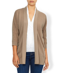 Oli camel wool blend stitch cardigan