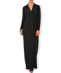 Adrianna black tie waist maxi dress